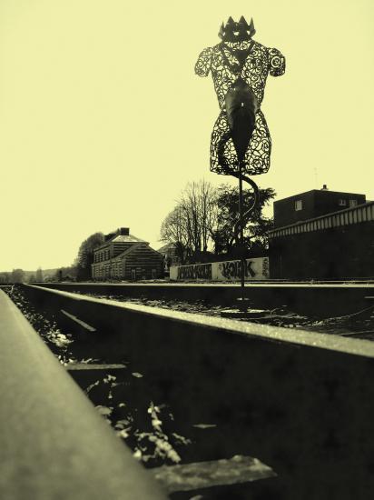 """""""Rêve de sculpteur"""" (avec Léa) - 2009 - Photo Alix"""